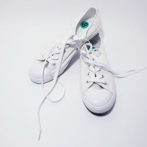 Converse White Sparkle Womens Sneaker